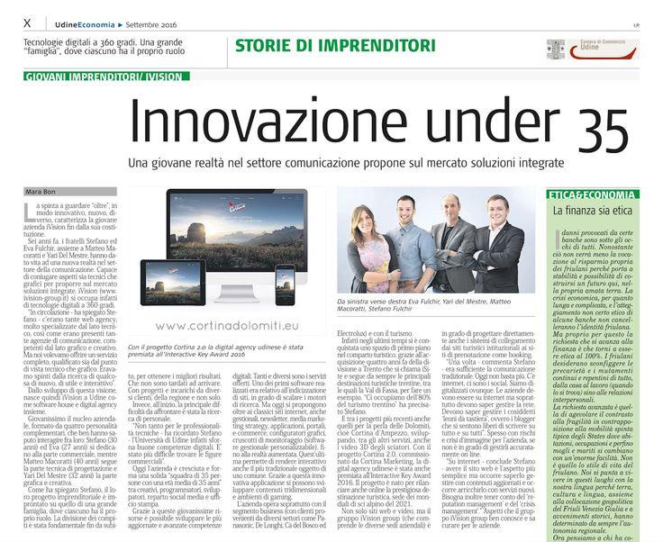 Un articolo all'interno del mensile #UdineEconomia di settembre che parla di noi e del nostro cuore digitale che continua a crescere!