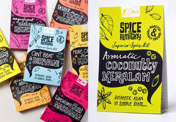 Spice Almighty spice kits by Ohn Mar Win, via Behance