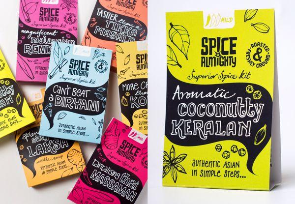 Spice Almighty spice kits by Ohn Mar Win, via Behance
