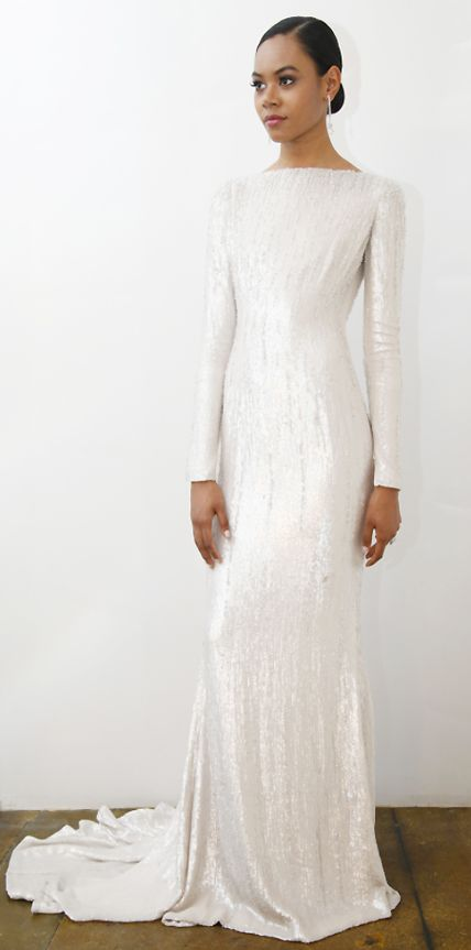 25 best ideas about sleek wedding dress on pinterest for Long sleek wedding dresses