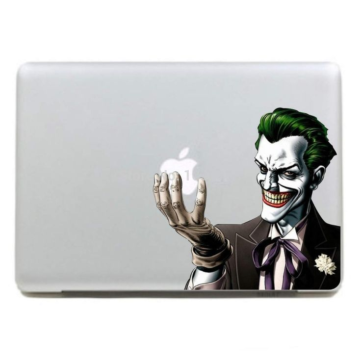 "Scary Joker Laptop Skin Vinyl For Macbook Pro 13"" Air 13"" MC-003 DC World Shop http://dcworldshop.com/scary-joker-laptop-skin-vinyl-for-macbook-pro-13-air-13-mc-003/    #suicidesquad #superhero #dcuniverse #bataman #superman"