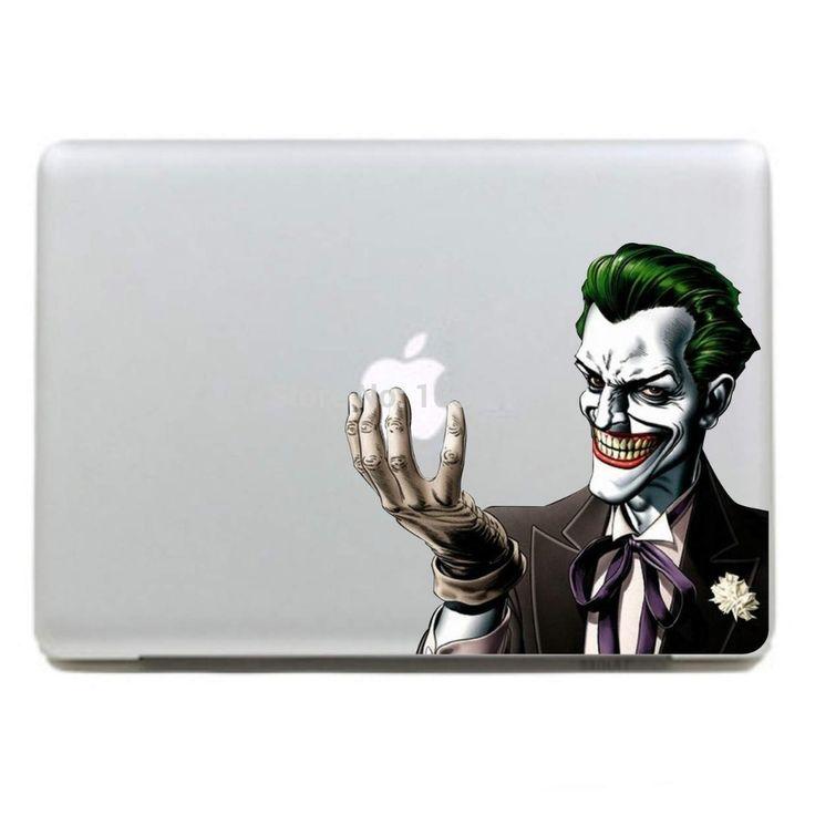 "Scary Joker Laptop Skin Vinyl For Macbook Pro 13"" Air 13"" MC-003 DC World Shop http://dcworldshop.com/scary-joker-laptop-skin-vinyl-for-macbook-pro-13-air-13-mc-003/    #suicidesquad #superhero #dcuniverse #bataman #superman"