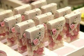 Souvenirs para baby shower con dulces