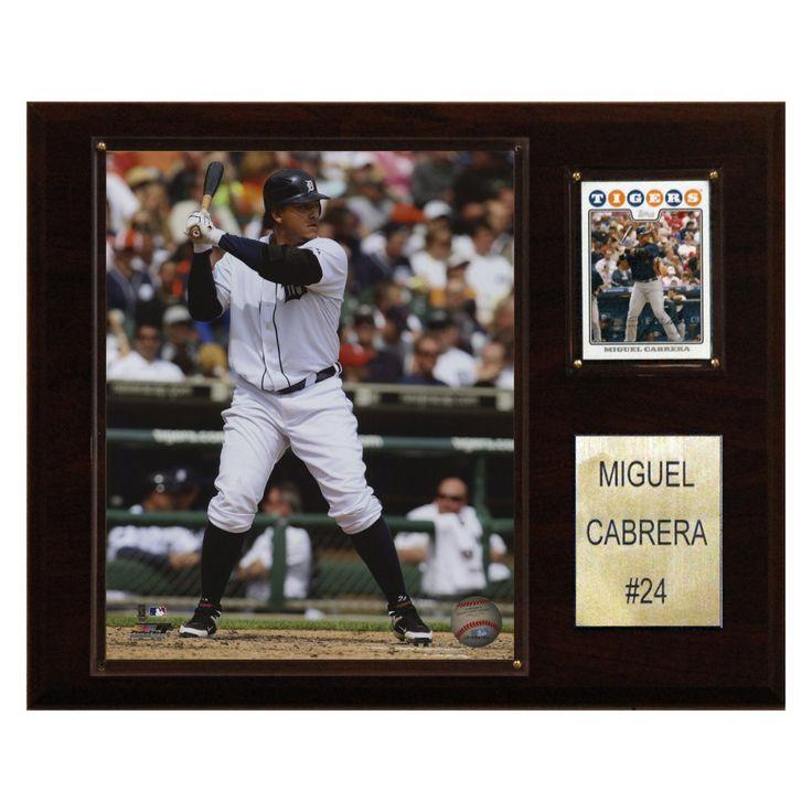 MLB 12 x 15 in. Miguel Cabrera Detroit Tigers Player Plaque - 1215MIGCAB