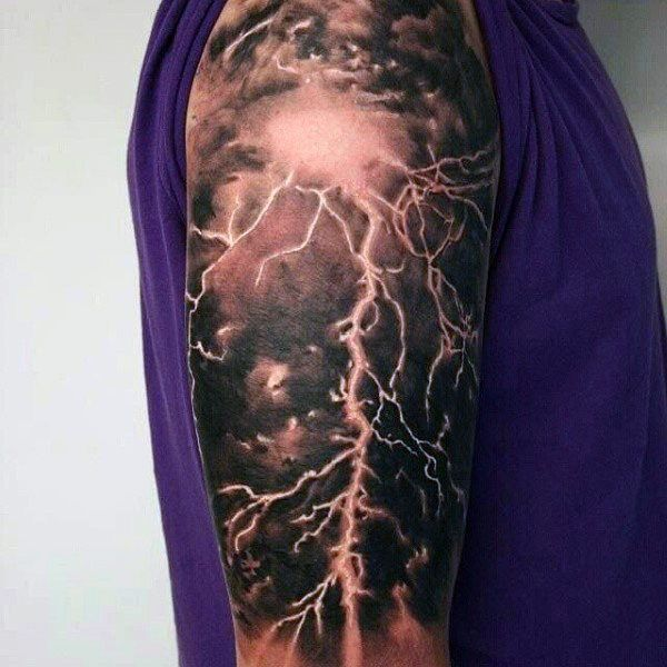 60 Lightning Tattoo Designs For Men - High Voltage Ideas ...