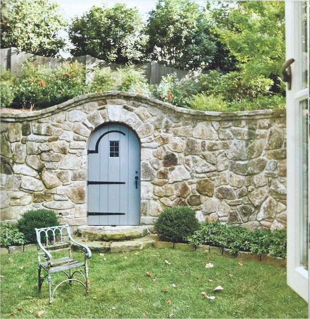 Stone Wall U0026 Garden Gate. Jacky Lanham Via Kitchens I Have Loved