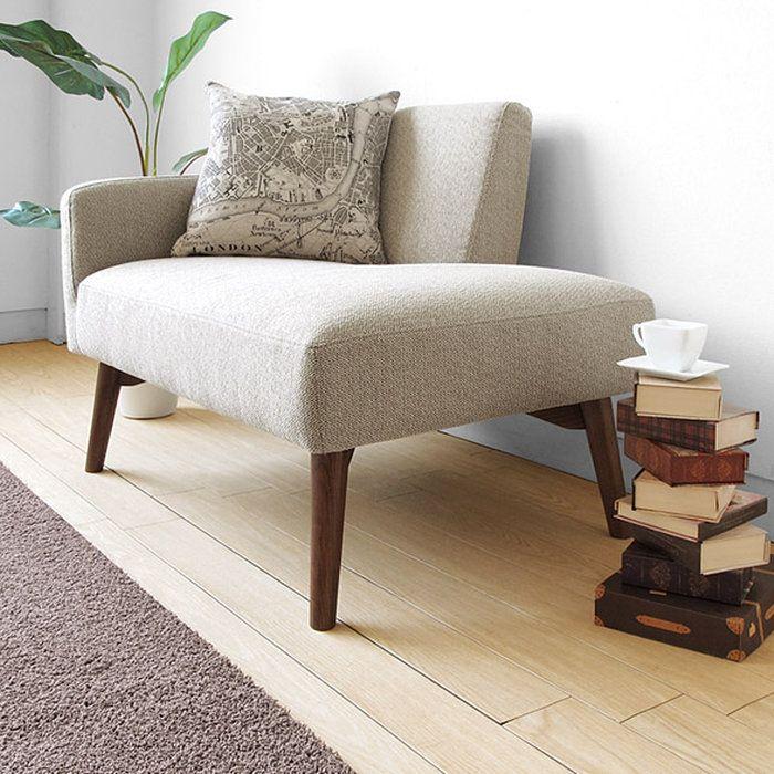 【受注生産商品】奥行70cmのコンパクト設計ベッドルームや書斎に持ち込めるラウンジソファくつろぎソファ1PソファカウチソファMABLE-RS1Pウォールナット材