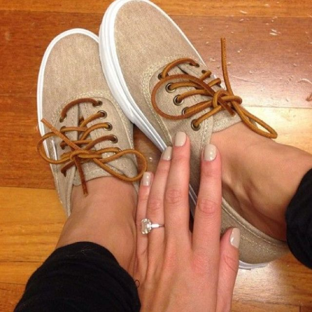 Tan vans- great for summer, her bling isn't bad either. I'll take the shoes and the ring please!!!