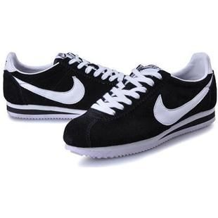 Womens Nike Cortez Black White