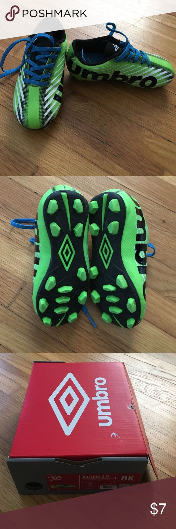 Toddler Boys Soccer Cleats Toddler boys soccer cleats. Umbro. Size 8. Worn once. Comes in box. Umbro Shoes