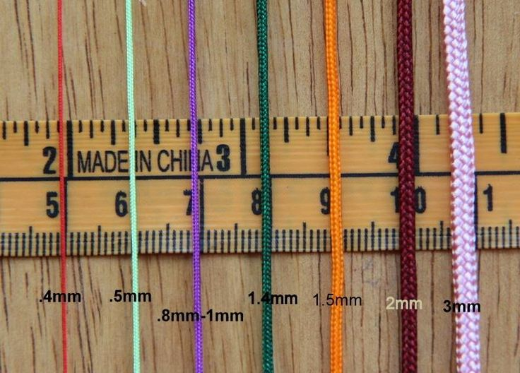 Sizes Of Paracord Macrame Cord Chinese Knotting Cord Paracord