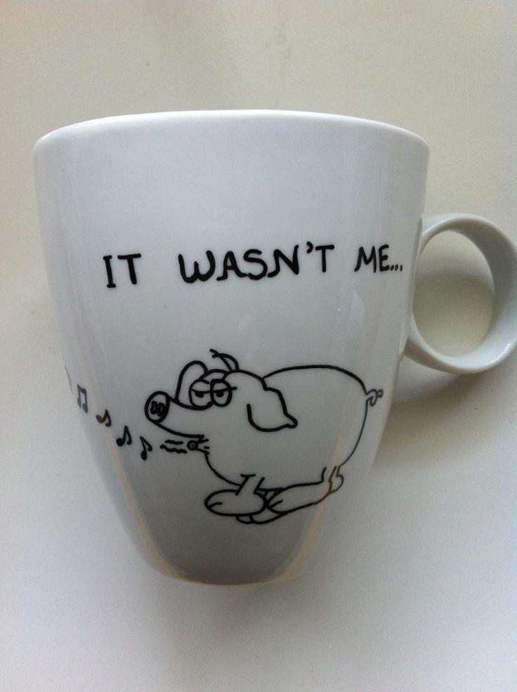 Funny Pig  Elephant Mug by litsakiv on Etsy, $18.00