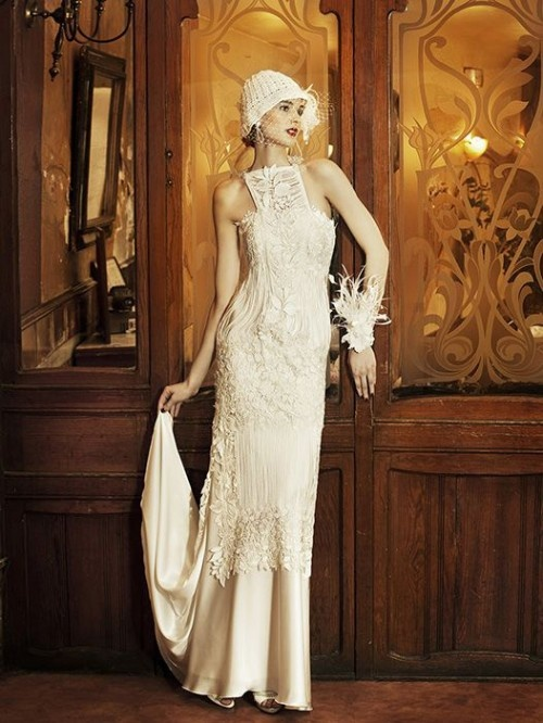 20s style Vintage Wedding Dress by YolanCris