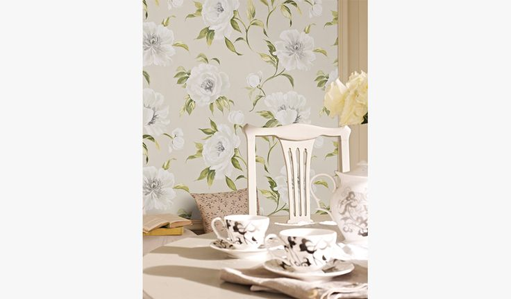 Peony Garden Willow Wallcovering