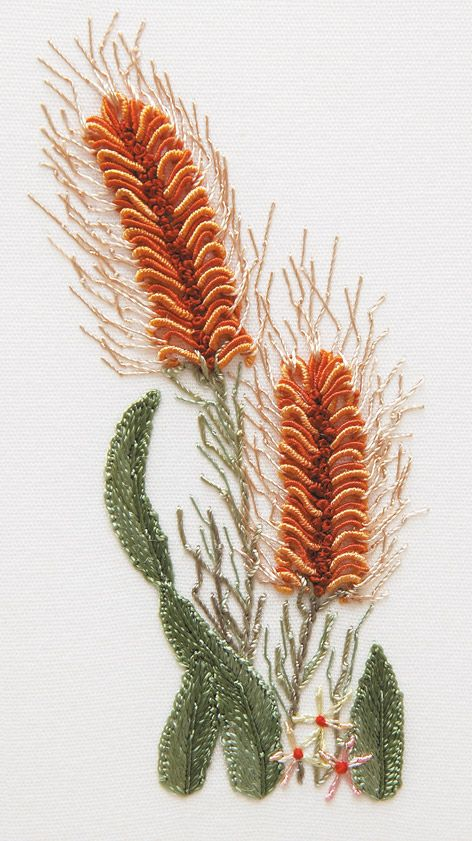 Brazilian Embroidery - wheat ears - nice texture!
