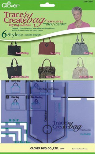 Clover Trace and Create Bag Templates with Nancy Zieman, City Bag Collection *** You can find out more details at the link of the image.