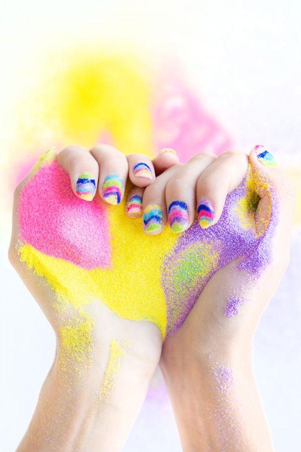 DIY Sand Art Manicure - Studio DIY
