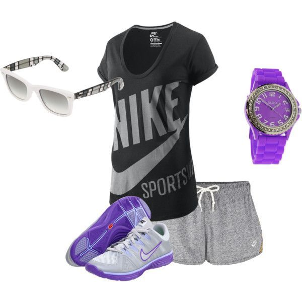 Nike Workout Outfit, created by supernatural14 on Polyvore
