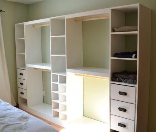Build a Master Closet System for under $250...free plans, cutting list and instructions