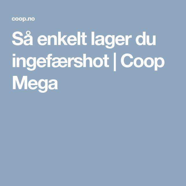 Så enkelt lager du ingefærshot | Coop Mega