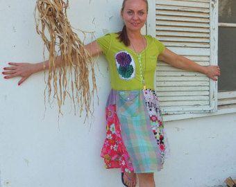 Orange Beach Live to Surf whimsical beach dress tunic upcycled