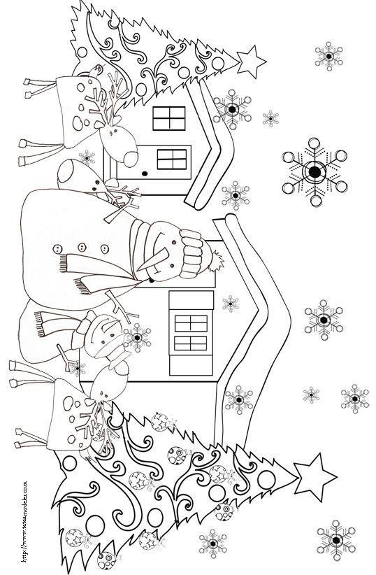 Kleurplaat kerst:
