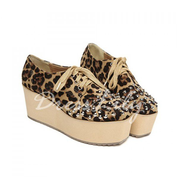 Leopard Print and Lace-Up Design Women's Ankle Boots #carnival cruise, #cheap cruise, #cruise deals, #cruise sale, #cruise ships