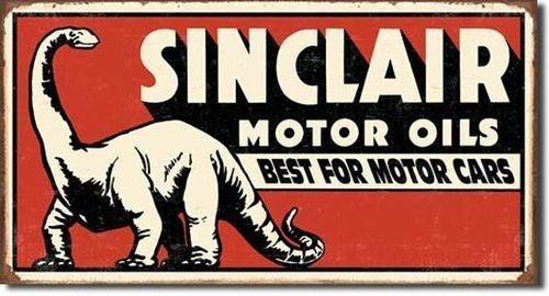 Blechschild Sinclair Dinosaur-DE1269