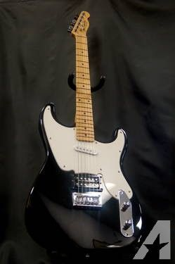 Fender Squire 51 Electric Guitar, Black With White Pick Guard