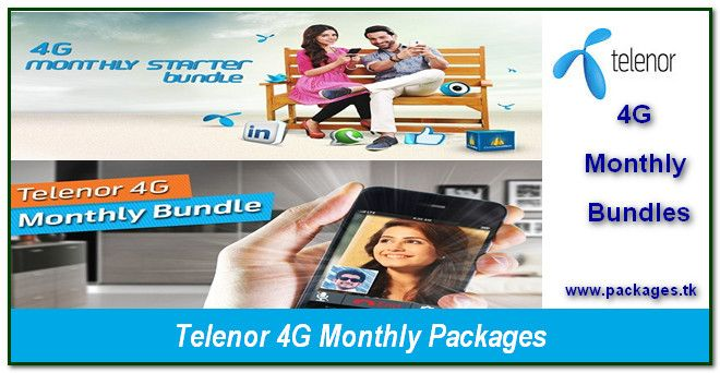 Telenor 4g monthly internet packages, 4G Monthly Starter Bundle, 4G Monthly Bundle, 4G Monthly Plus Bundles, Telenor Internet Packages, Telenor 2G, 3G, 4G Internet Packages. http://www.packages.tk/2017/01/telenor-4g-monthly-Internet.html