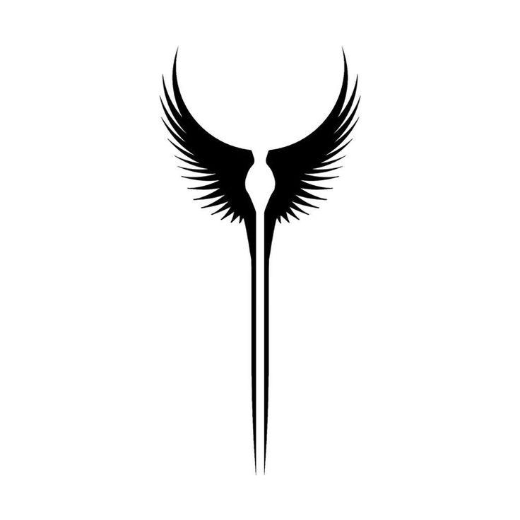 Wikinger Tattoo Vorlage Walkyre Flügel kleines Motiv