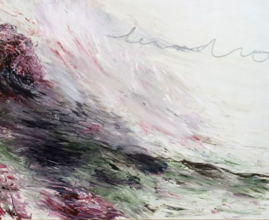 'Hero and Leandro' (1984) by Cy Twombly (SMFA Dip '49) from Turner Monet Twombly, at Tate Liverpool // The Telegraph (UK)