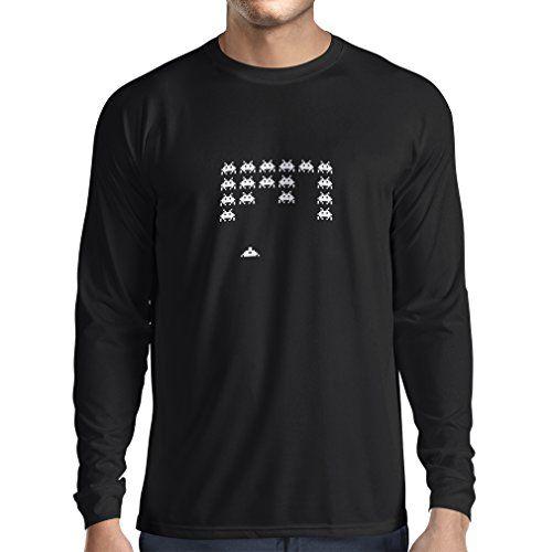 T-shirt à manches longues T-shirts drôles de gamer de cadeaux de gamer de maniacs vintages de PC (XX-Large Noir Fluorescent)