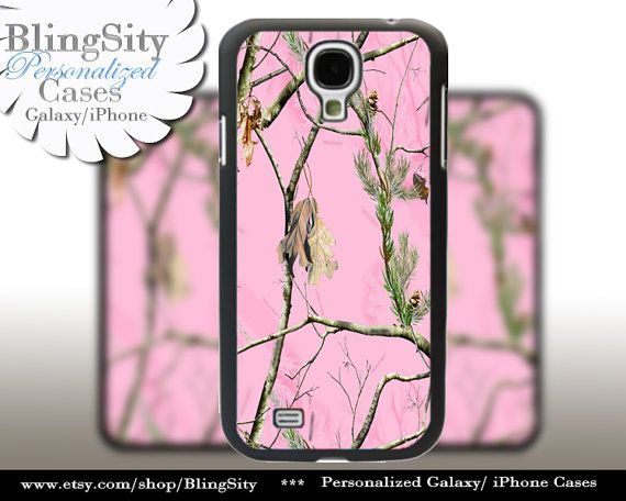 Pink Camo Monogram Galaxy S4 case S5 Real Tree Camouflage Personalized Samsung Galaxy S3 Case Note 2 3 Cover Country Girl by BlingSity