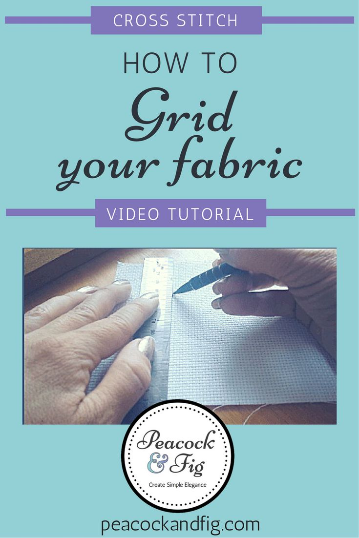 Ever wondered how to grid your fabric for larger cross stitch projects? In this video tutorial, you'll learn everything you need to know to start gridding your bigger cross stitch patterns like a pro so you don't get lost again!