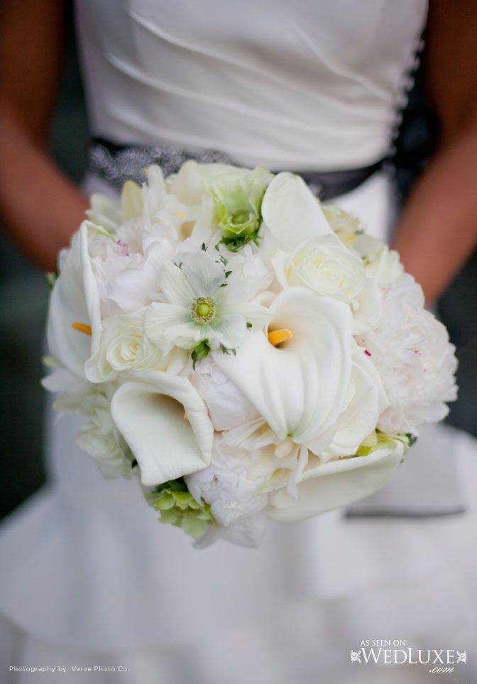 Cool Green & Shady Textured White Bouquet