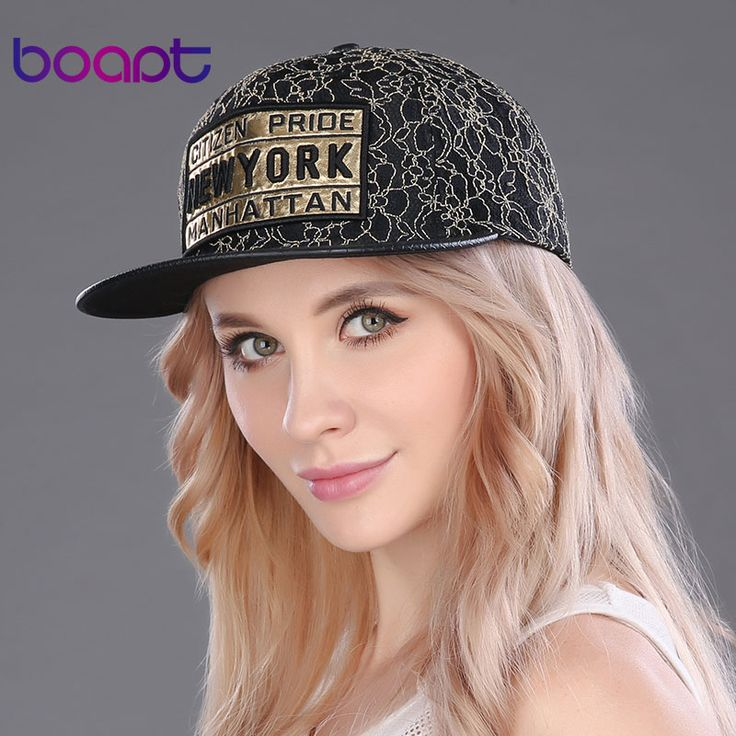 BOAPT gold lace baseball cap letter embroidery women's hats summer casual hip hop flat caps for men snapback vintage brand hat #Affiliate
