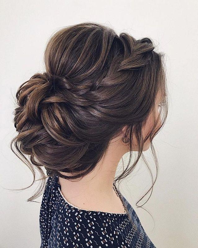 Lovely Braided Loose Updo Braided Hairstyles For Wedding Updos For Medium Length Hair Medium Hair Styles