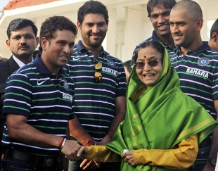 SRT with President Mrs. Pratibha Patil.