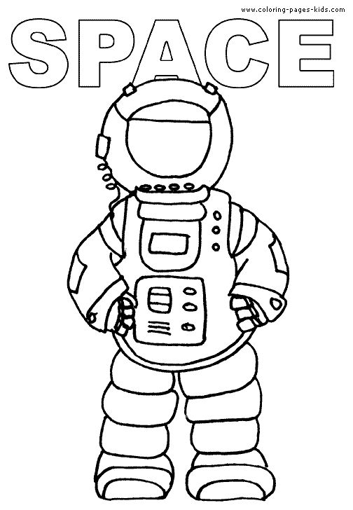 Space Aliens Color Page Coloring Pages For Kids Fantasy