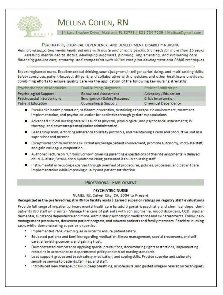 example of professional credentials on nursing resume