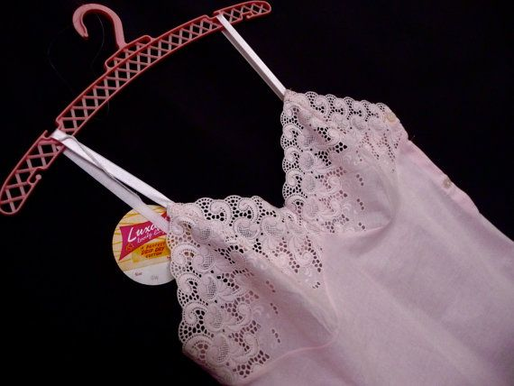 Vintage New Pink Petticoat Cotton Petticoat Nightie Dress