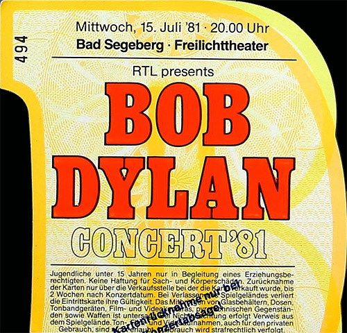 Bob Dylan 7/15/81 Freilichttheater Bad Segeberg, West Germany Download: FLAC/MP3 LB-8518 (LK)My Tape: better than LB-4616, and LB-3068 'master recording'. This seems to be the same sour…