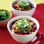 Red Bean and Poblano Chili.   FUN FACT: One of several varieties of beans to make the list, red beans offer protein and fiber (more than 5 grams per serving!). Kidney beans are also rich in Resistant Starch; a 1/2-cup serving packs nearly 2 grams of this slimming carb.