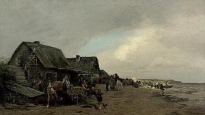 Ländliches Treiben In Einem Fischerdorf An Der Baltischen Küste Gregor Von Bochmann