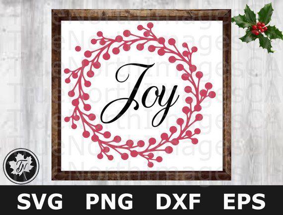 Download Christmas SVG / Joy SVG / Christmas Wreath SVG / Christmas ...