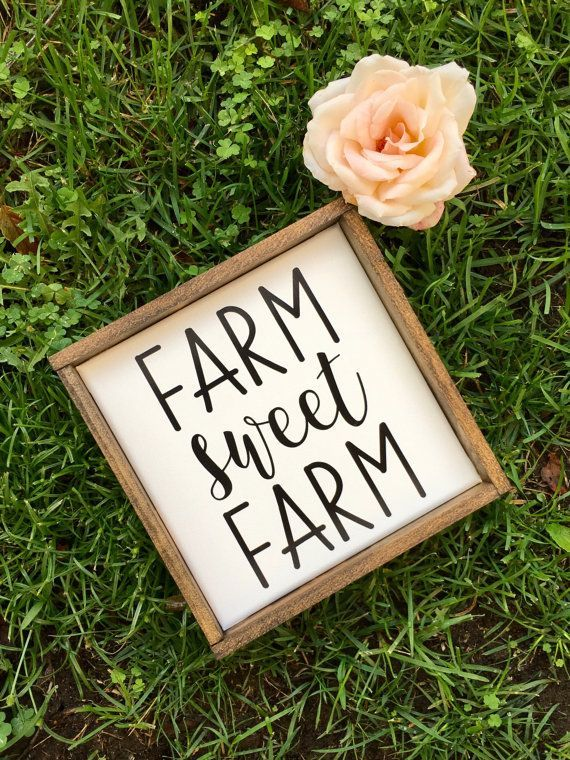 Farm Sweet Farm FIxer Upper Farmhouse Sign Affiliate.link