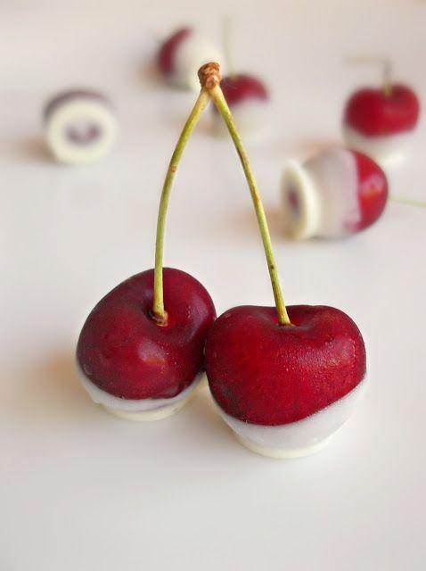 White Chocolate Dipped Cherries | Recipes-Dessert | Pinterest