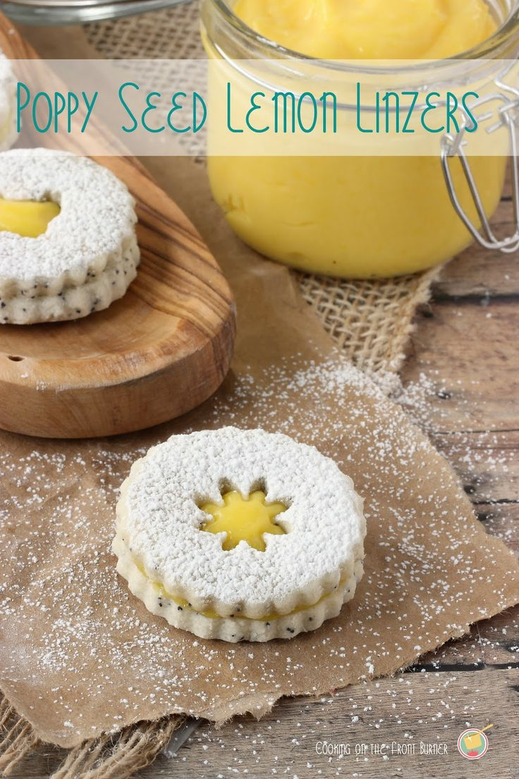 Poppy Seed Lemon Linzer Cookies   Cooking on the Front Burner #linzercookies #lemon