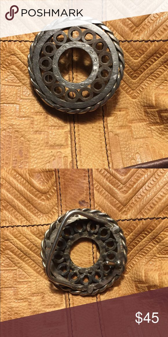 Handmade solid metal belt buckle! Great craftsmanship made by a very good friend who does my heavy metalsmithing Accessories Belts